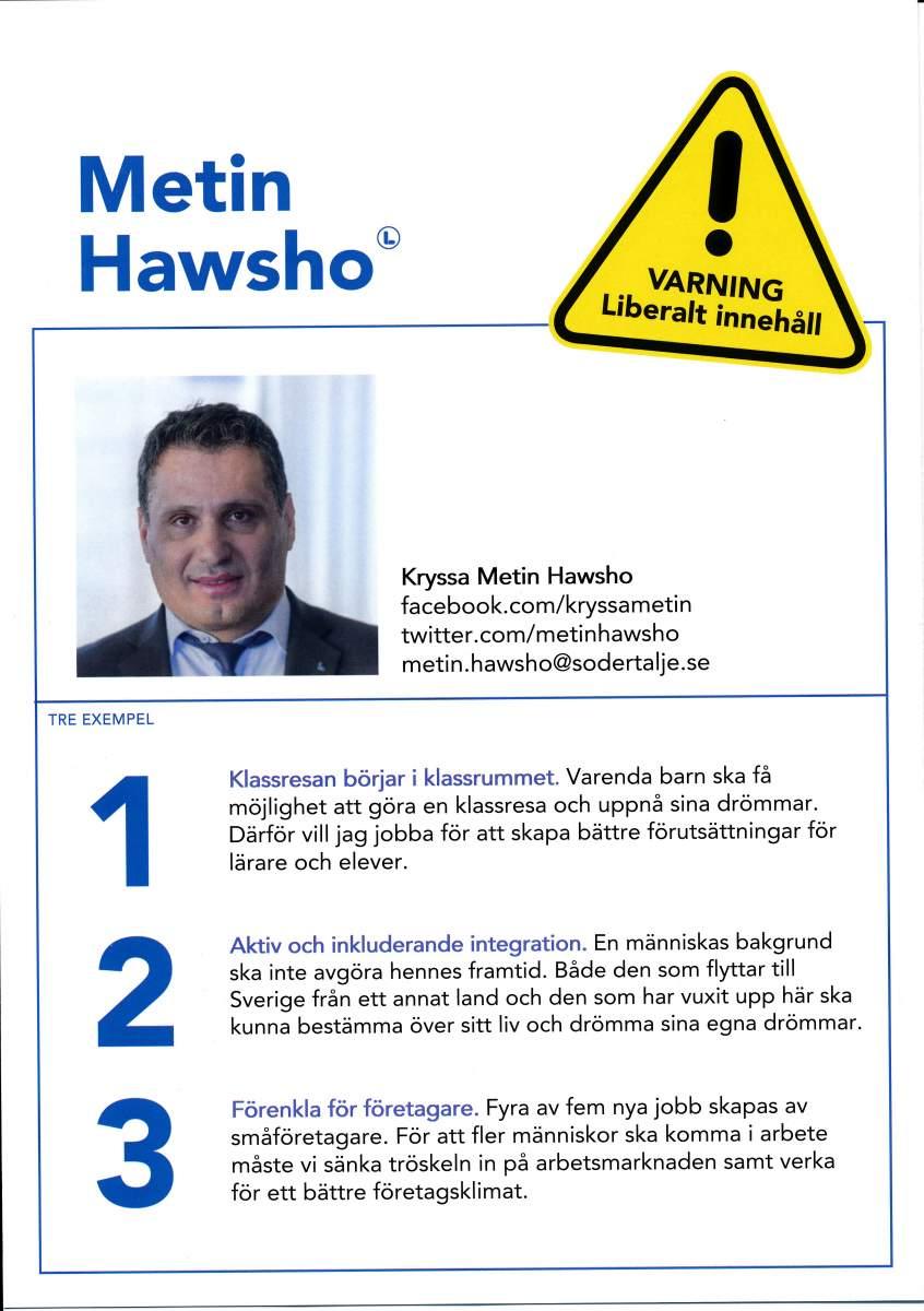 Metin Hawsho valpresentation sid 2